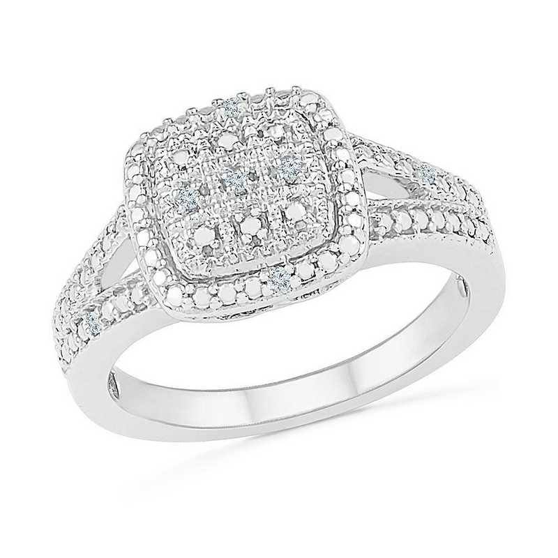 STERLING SILVER WITH DIAMOND ACCENT FASHION RING