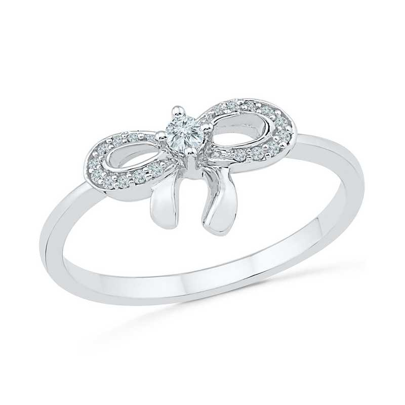 1/10 CT. Diamond Fashion Ring in Sterling Silver