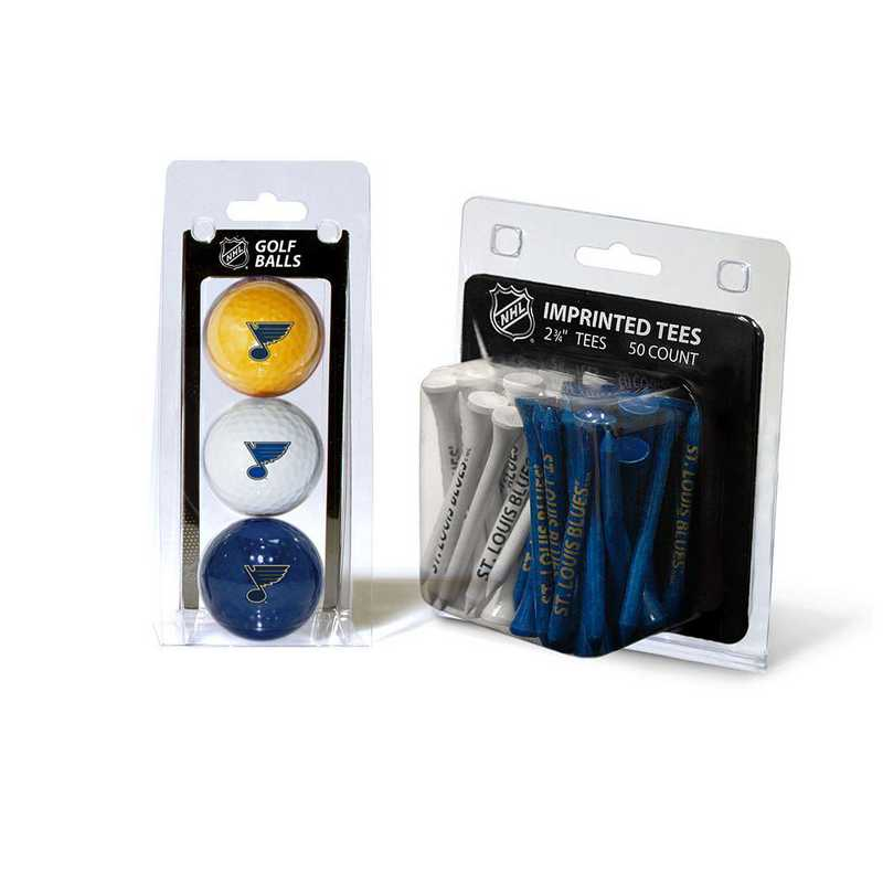 15499: 3 Golf Balls And 50 Golf Tees St Louis Blues