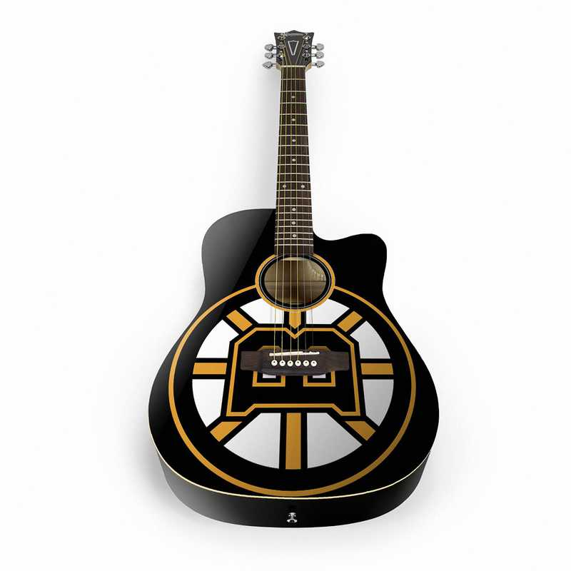 ACNHL03: Boston Bruins Acoustic Guitar