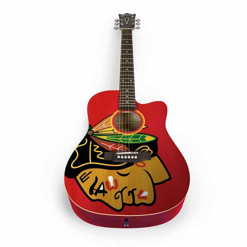 ACNHL07: Chicago Blackhawks Acoustic Guitar