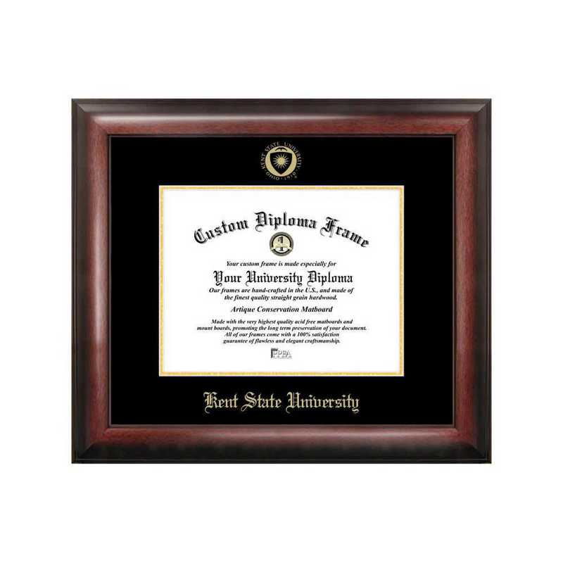 OH989GED-97: Kent State University 9w x 7h Gold Embossed Diploma Frame