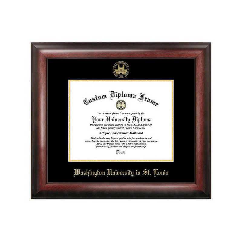 MO997GED-1185: Washington University in St. Louis 11w x 8.5h Gold Embossed Diploma Frame