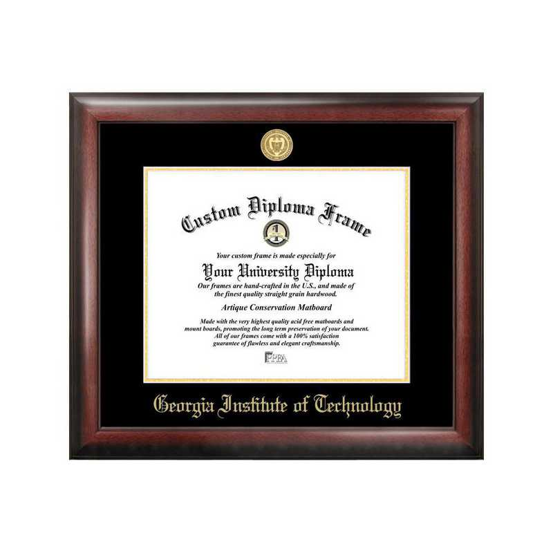 GA974GED-1714: Georgia Institute of Technology 17w x 14h Gold Embossed Diploma Frame