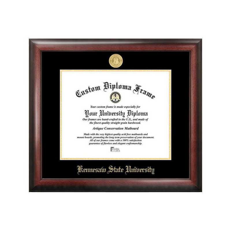GA986GED-1411: Kennesaw State University 14w x 11h Gold Embossed Diploma Frame