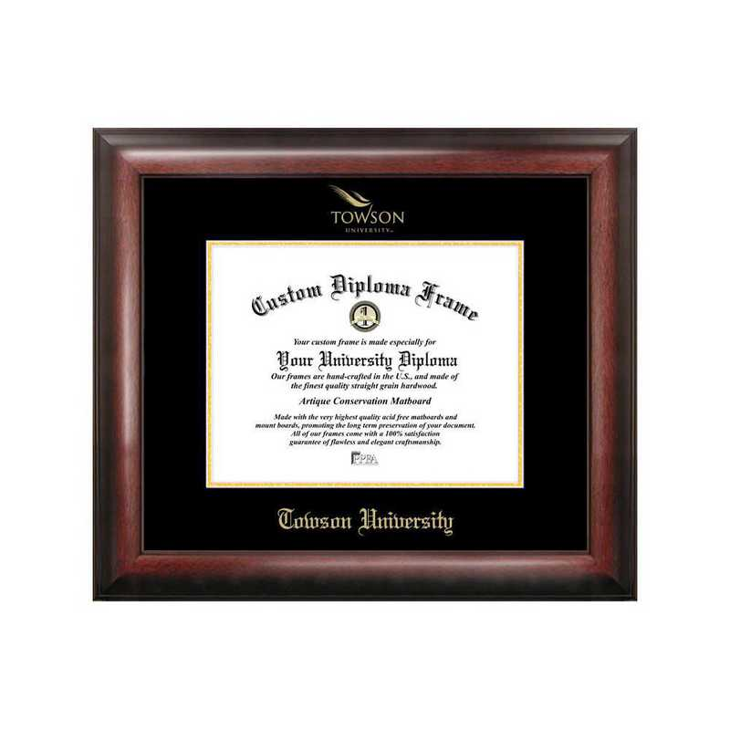 MD999GED-1411: Towson University 14w x 11h Gold Embossed Diploma Frame