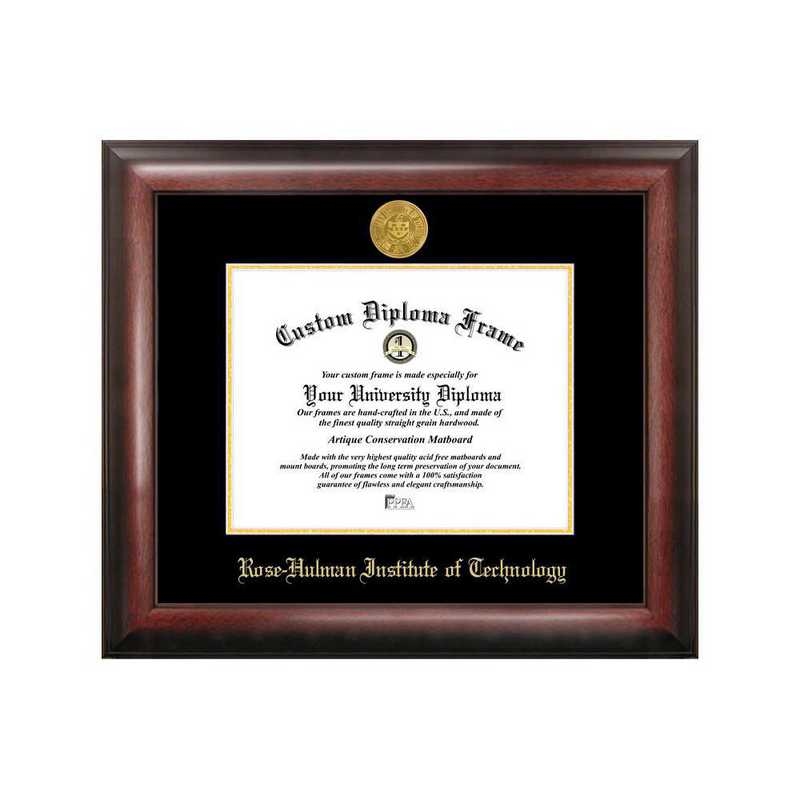 IN994GED-1185: Rose Hulman Institute of Technology 11w x 8.5h Gold Embossed Diploma Frame