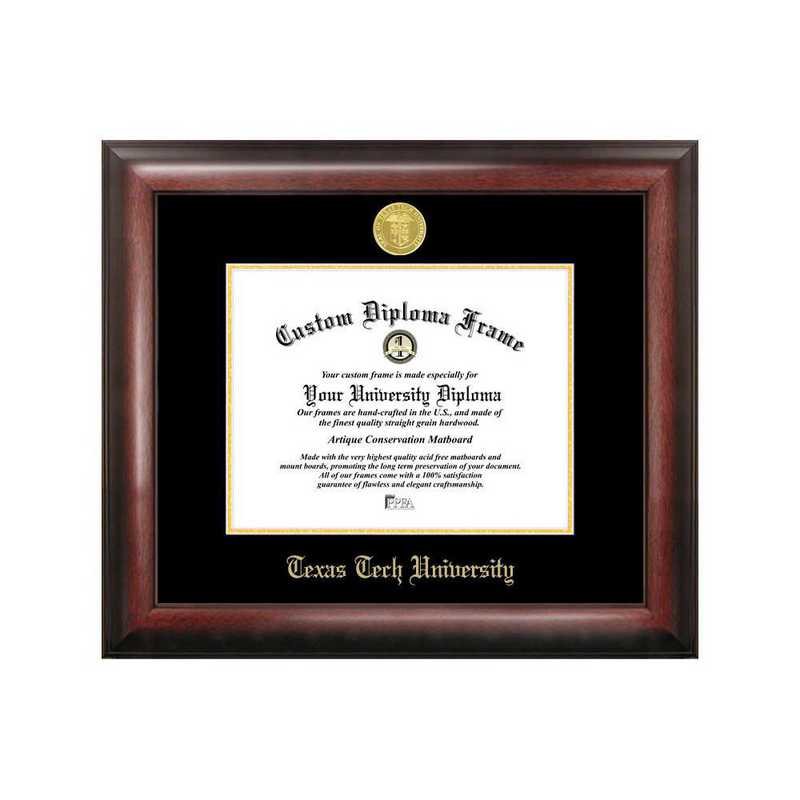 TX960GED-1411: Texas Tech University 14w x 11h Gold Embossed Diploma Frame