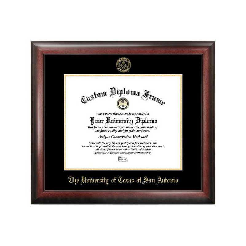 TX948GED-1411: University of Texas, San Antonio 14w x 11h Gold Embossed Diploma Frame