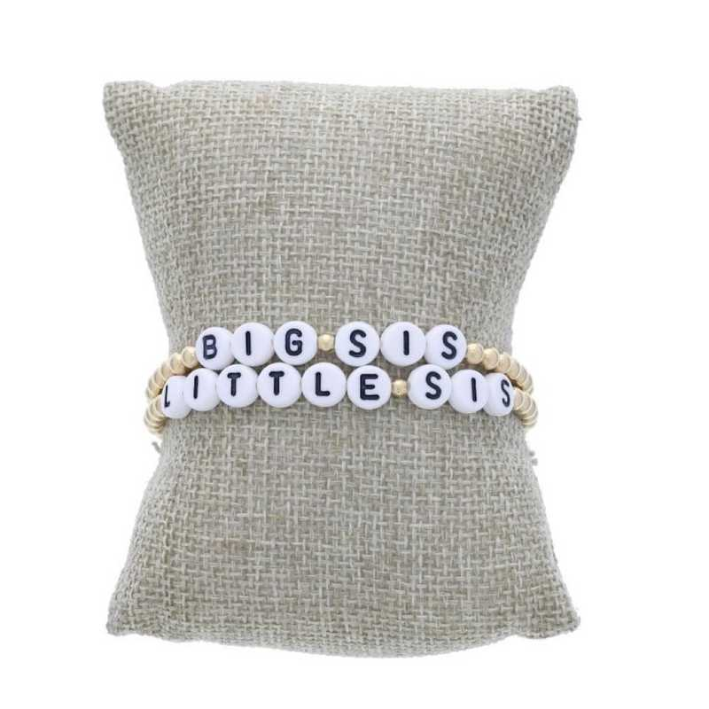 DBJ-STK-2822: Gold filled or sterling silver 4mm beads with acrylic message letters