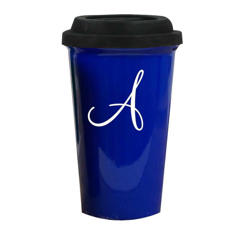 L990613BL: Latte Mug Blue 1 Intial