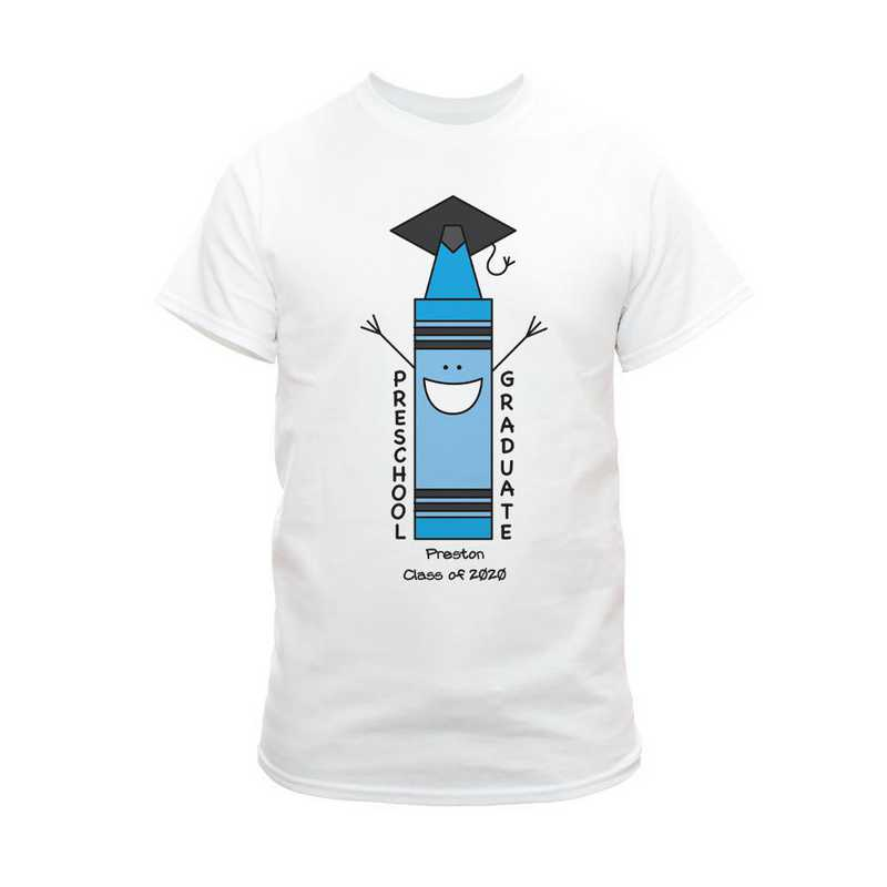 Blue Graduation T-Shirt White